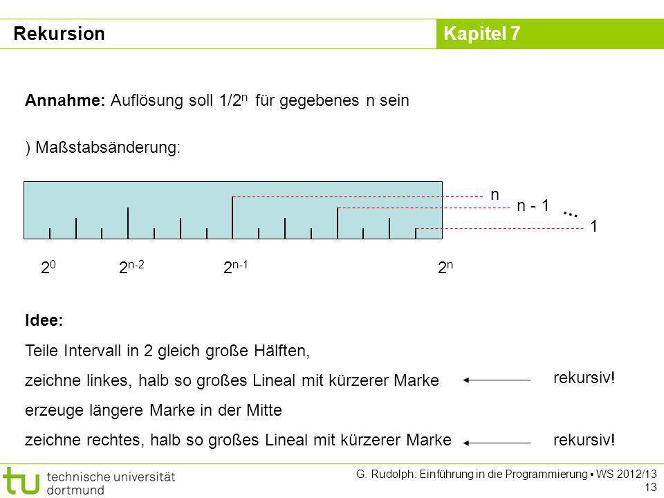 Rekursion Annahme: Auflösung soll 1/2n für gegebenes n sein 2n 2n-1