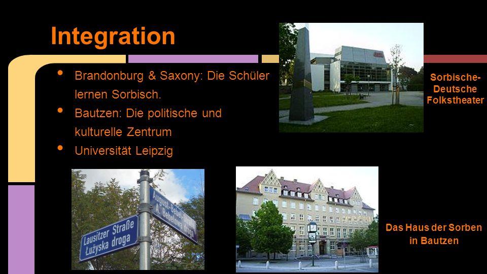 Integration Brandonburg & Saxony: Die Schüler lernen Sorbisch.