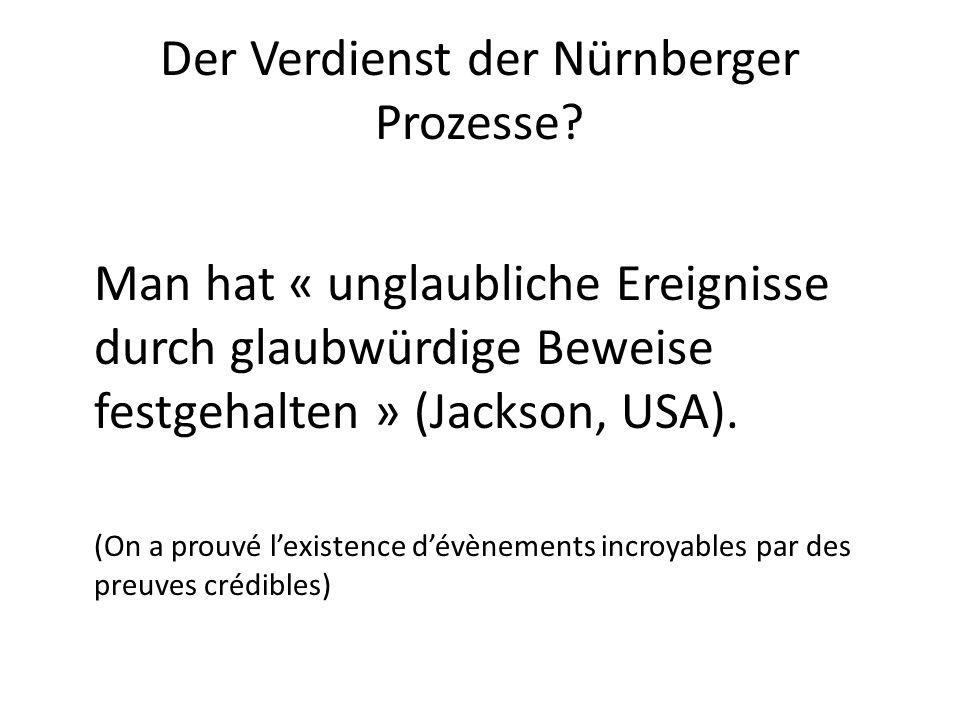 Der Verdienst der Nürnberger Prozesse