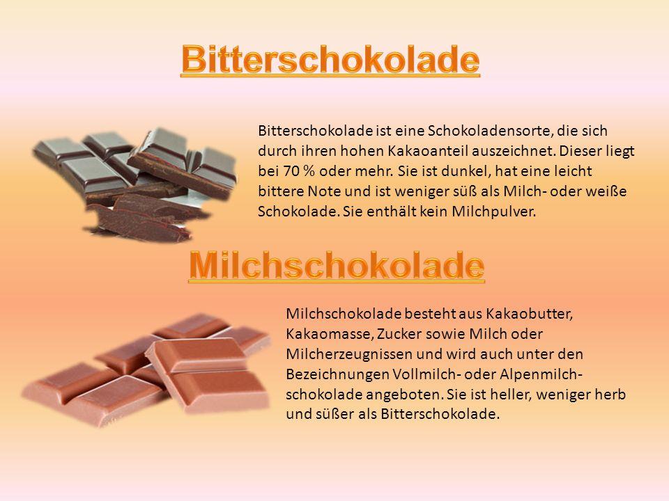 schokoladensorten im hinblick auf die schokoladensorten l sst sich schokolade dabei in drei. Black Bedroom Furniture Sets. Home Design Ideas