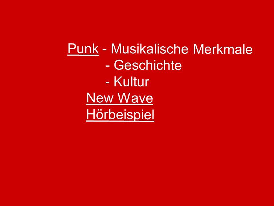 Punk - Musikalische Merkmale