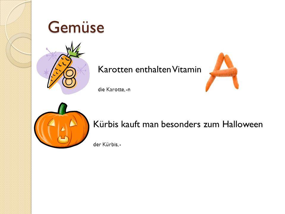 Gemüse Karotten enthalten Vitamin
