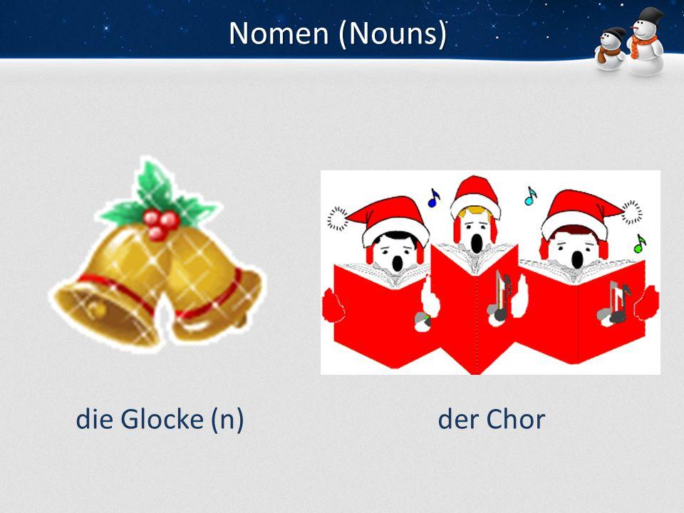 Nomen (Nouns) die Glocke (n) der Chor
