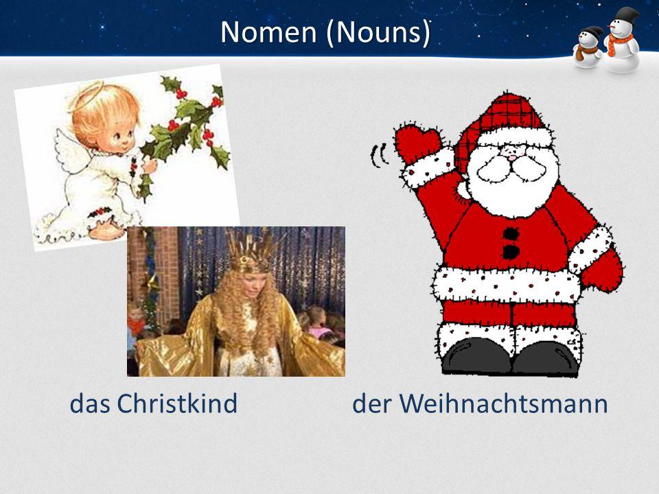 Nomen (Nouns) das Christkind der Weihnachtsmann