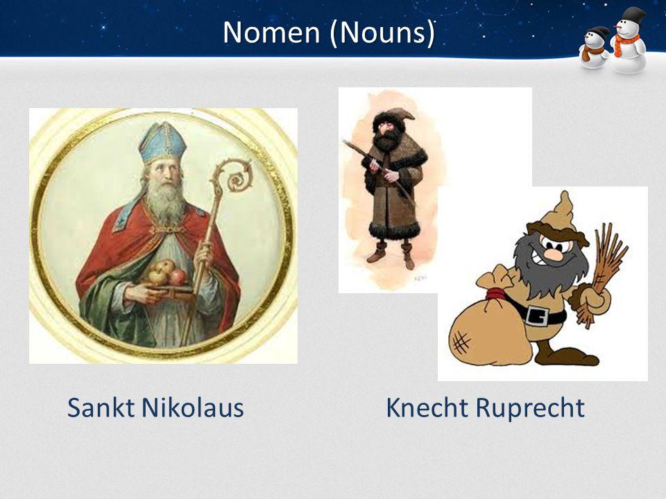 Nomen (Nouns) Sankt Nikolaus Knecht Ruprecht