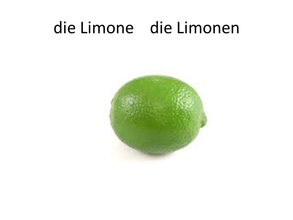 die Limone die Limonen