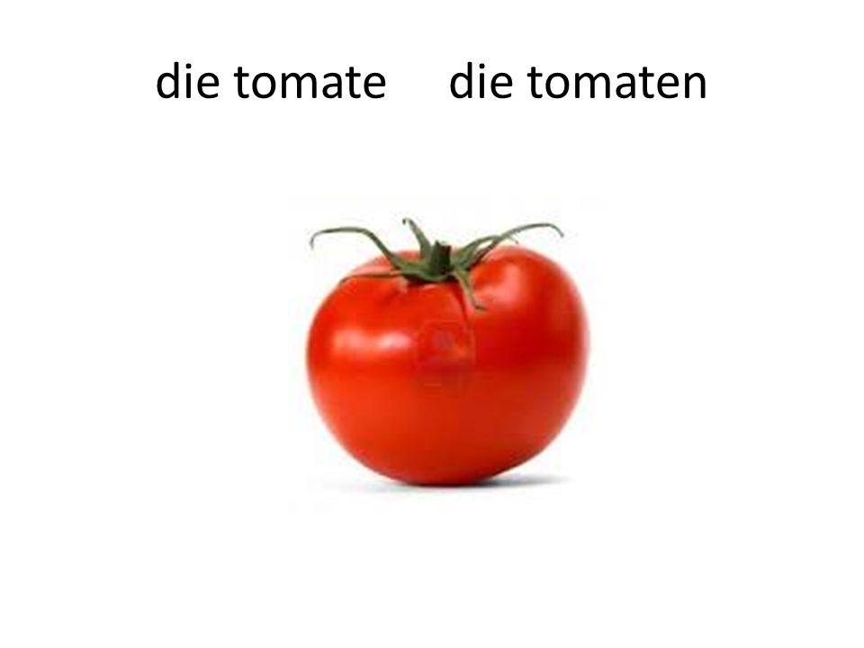 die tomate die tomaten