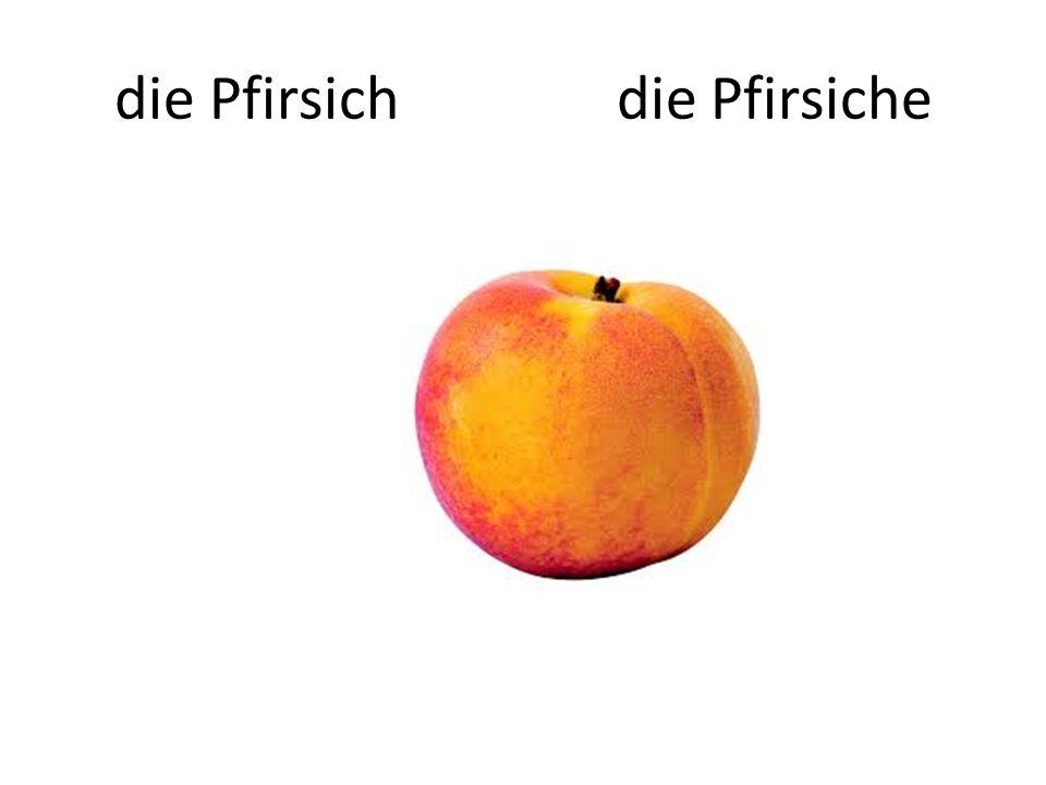die Pfirsich die Pfirsiche