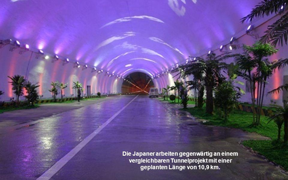 Die Japaner arbeiten gegenwärtig an einem vergleichbaren Tunnelprojekt mit einer geplanten Länge von 10,9 km.
