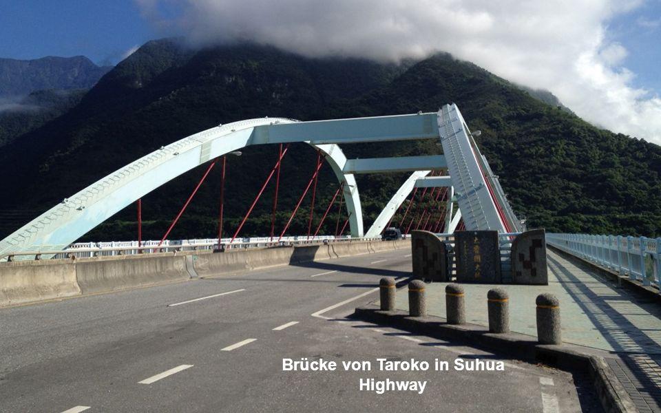 Brücke von Taroko in Suhua Highway