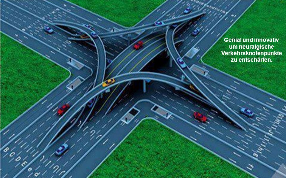 Genial und innovativ um neuralgische Verkehrsknotenpunkte zu entschärfen.