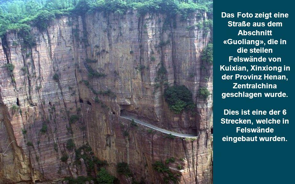 Dies ist eine der 6 Strecken, welche in Felswände eingebaut wurden.