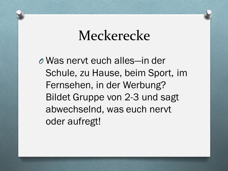 Meckerecke