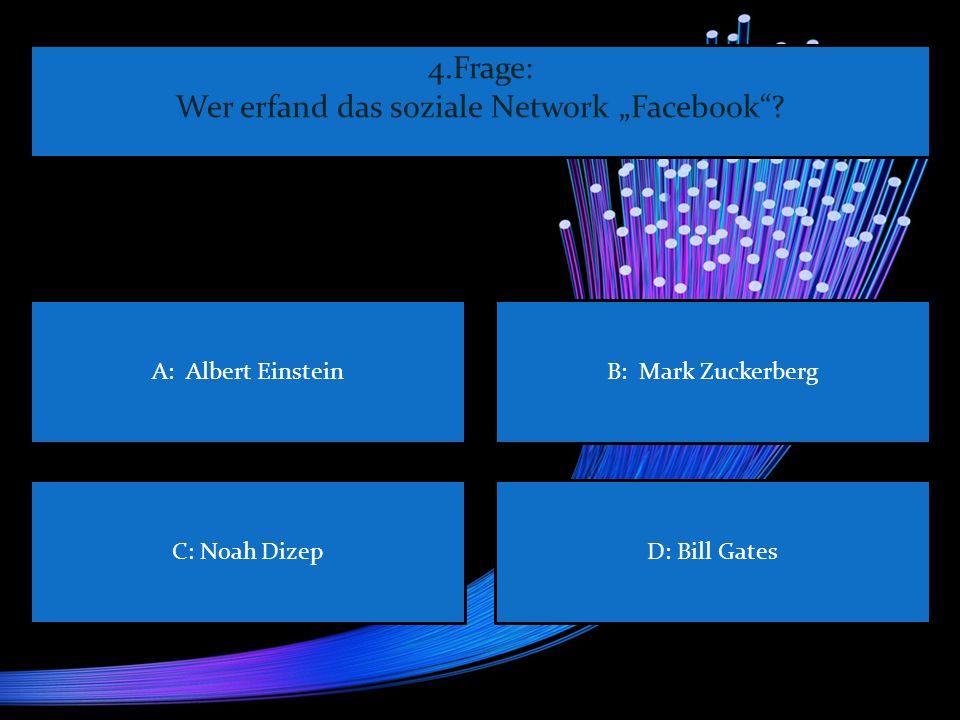 """Wer erfand das soziale Network """"Facebook"""