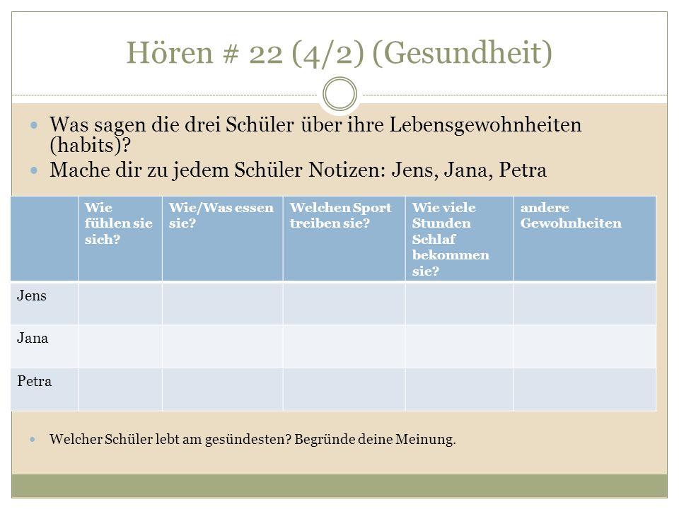 Hören # 22 (4/2) (Gesundheit)