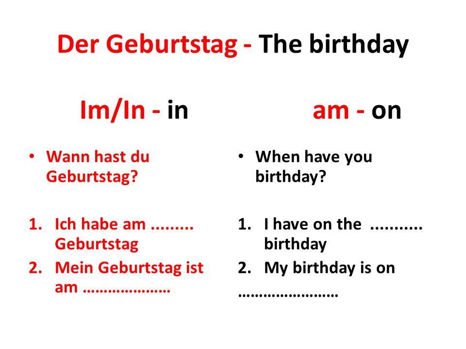 Der Geburtstag - The birthday