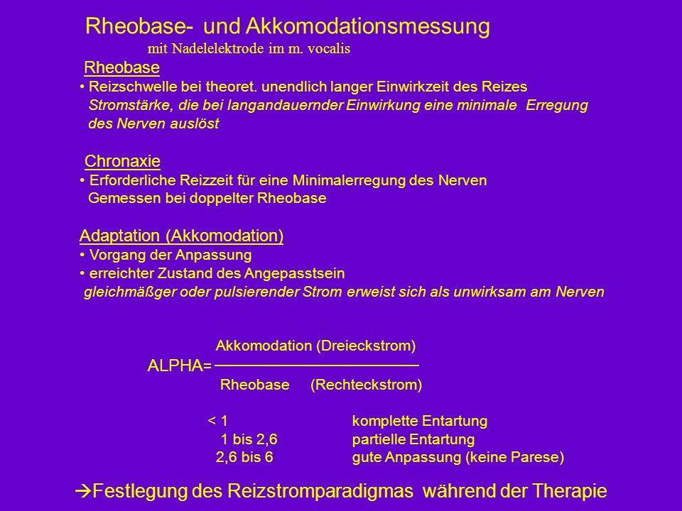 Rheobase- und Akkomodationsmessung