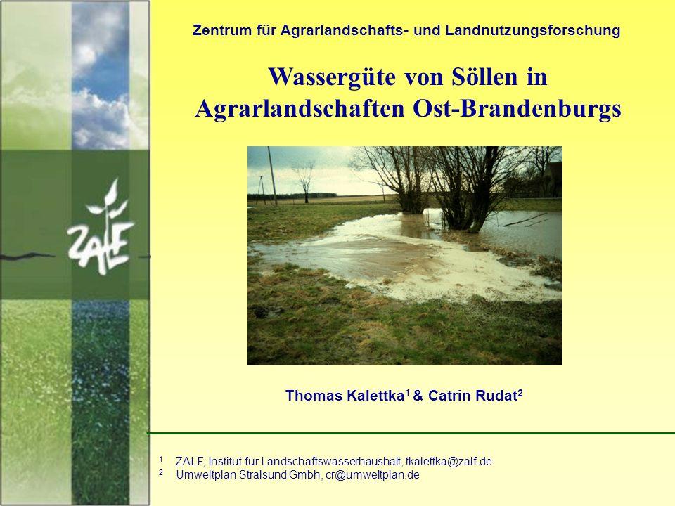 Wassergüte von Söllen in Agrarlandschaften Ost-Brandenburgs
