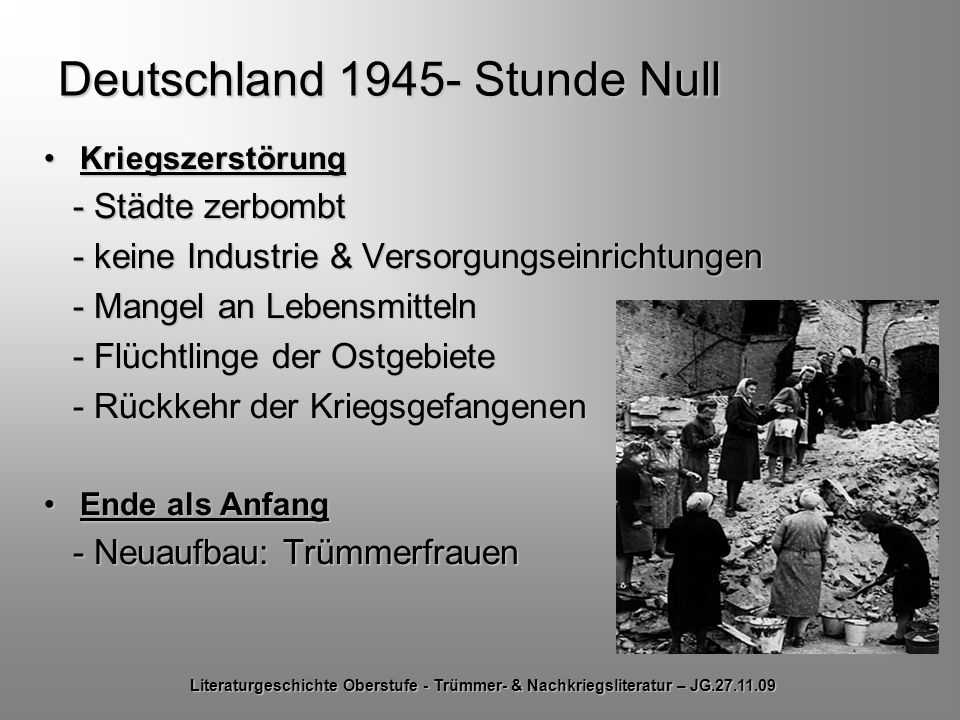 Deutschland 1945- Stunde Null
