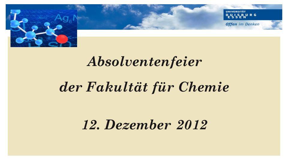 der Fakultät für Chemie
