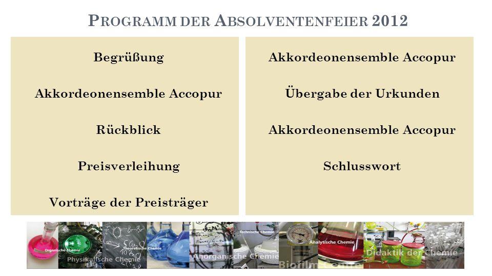 Programm der Absolventenfeier 2012
