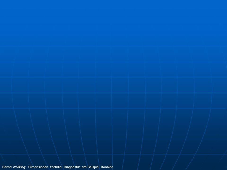 Bernd Wollring: Dimensionen fachdid. Diagnostik am Beispiel Ronaldo