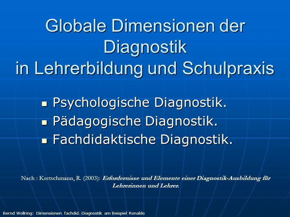 Globale Dimensionen der Diagnostik in Lehrerbildung und Schulpraxis
