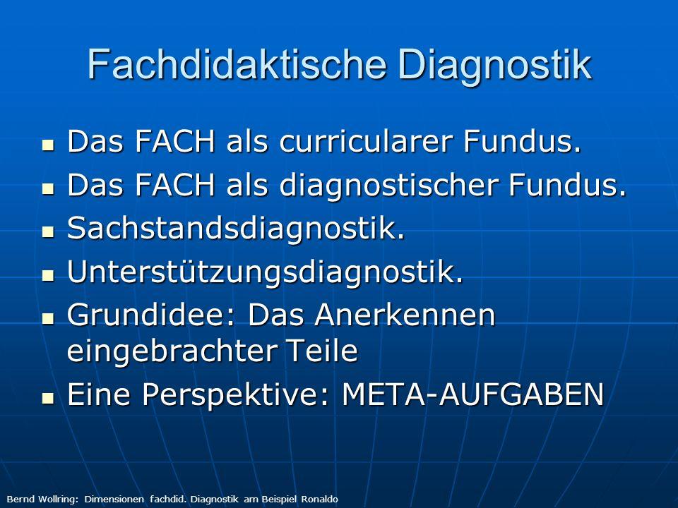 Fachdidaktische Diagnostik