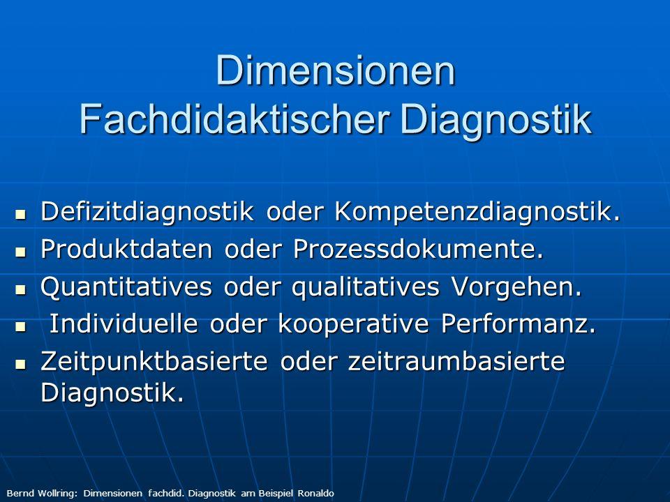 Dimensionen Fachdidaktischer Diagnostik
