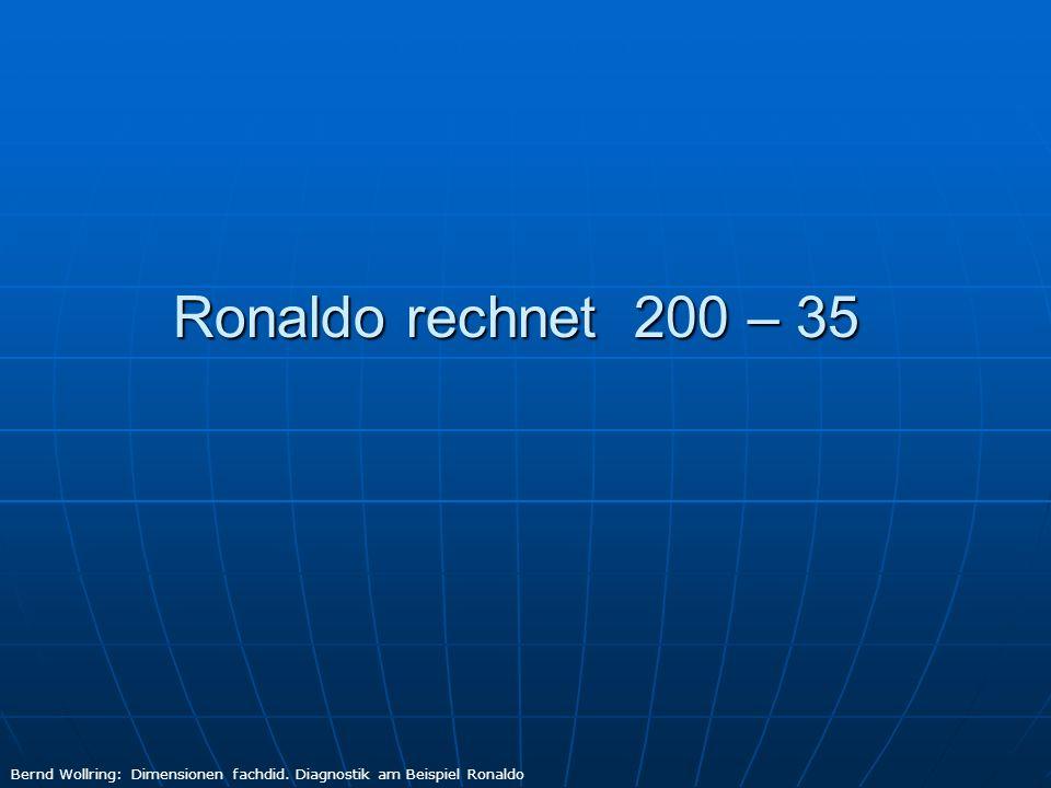 Ronaldo rechnet 200 – 35 Bernd Wollring: Dimensionen fachdid. Diagnostik am Beispiel Ronaldo