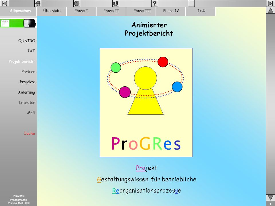 Animierter Projektbericht