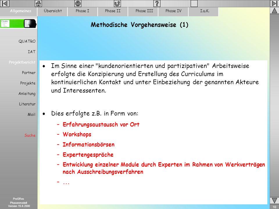 Methodische Vorgehensweise (1)