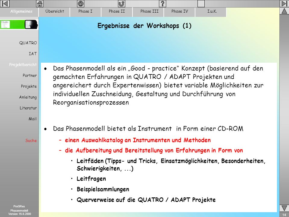 Ergebnisse der Workshops (1)