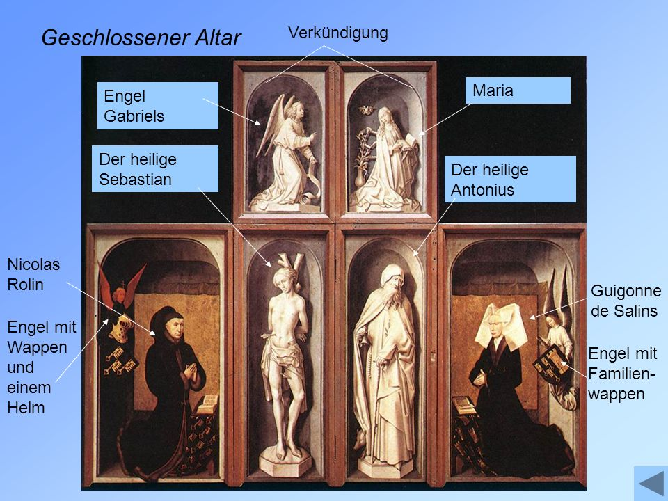 Geschlossener Altar Verkündigung Maria Engel Gabriels
