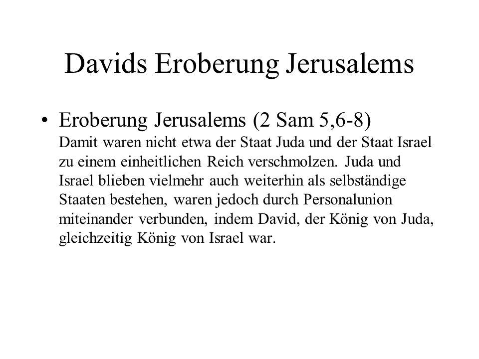 Davids Eroberung Jerusalems