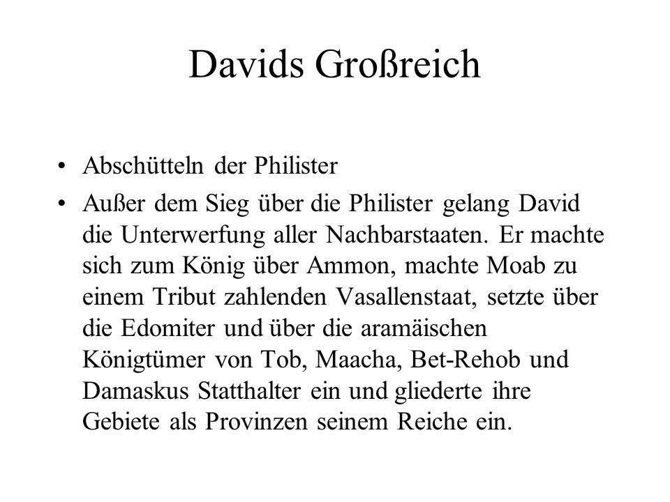 Davids Großreich Abschütteln der Philister