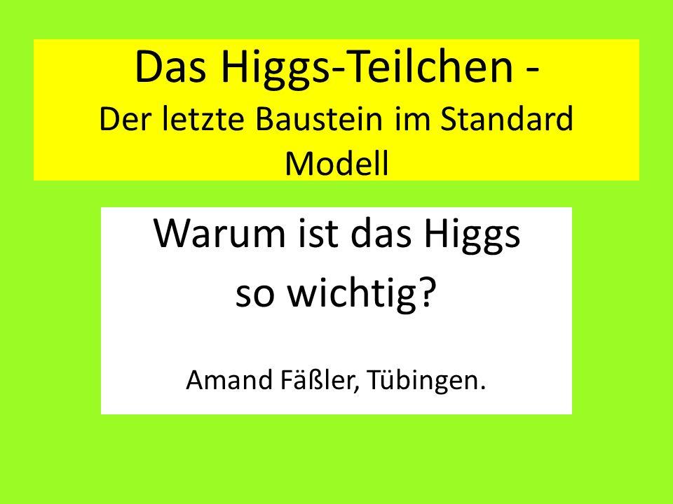Das Higgs-Teilchen - Der letzte Baustein im Standard Modell