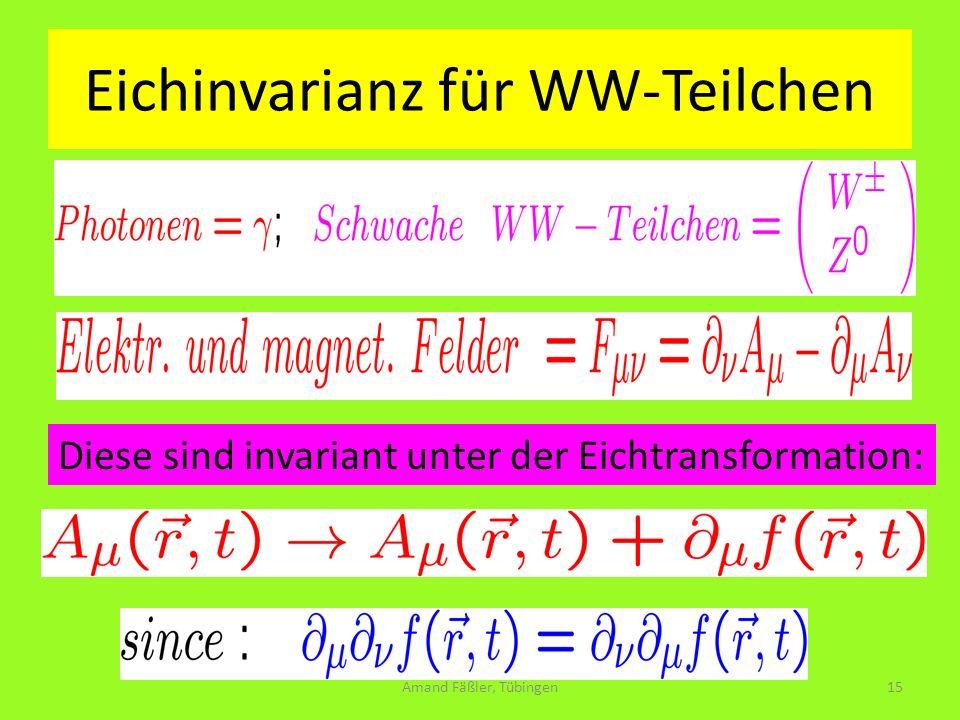 Eichinvarianz für WW-Teilchen