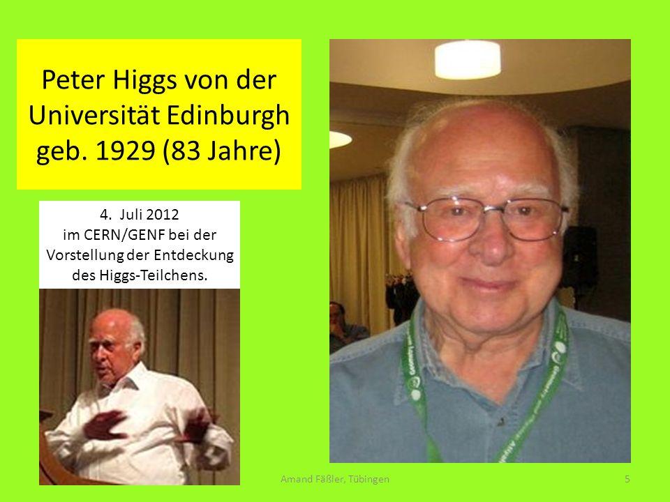 Peter Higgs von der Universität Edinburgh geb. 1929 (83 Jahre)