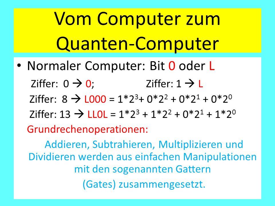 Vom Computer zum Quanten-Computer