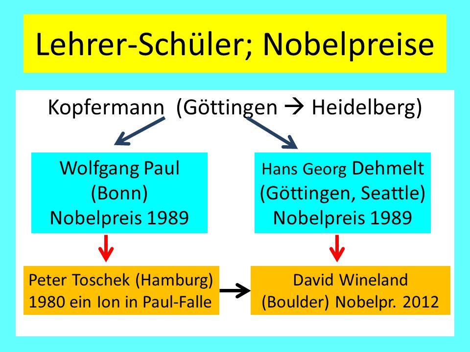 Lehrer-Schüler; Nobelpreise