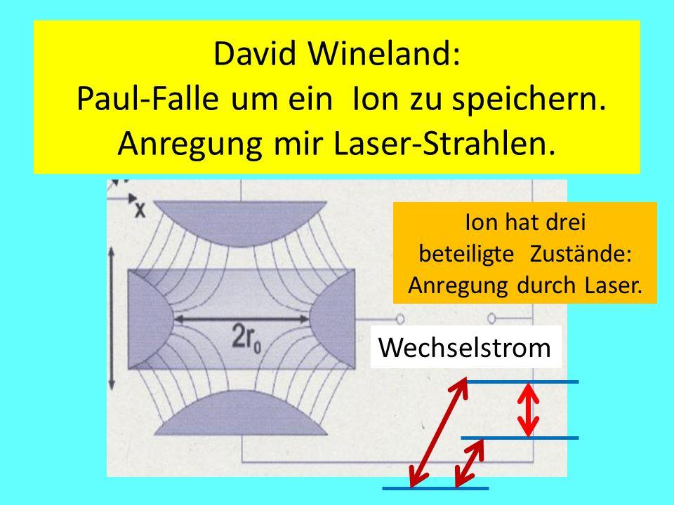David Wineland: Paul-Falle um ein Ion zu speichern