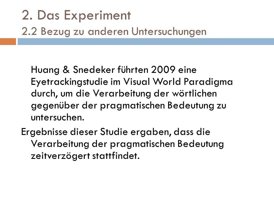 2. Das Experiment 2.2 Bezug zu anderen Untersuchungen
