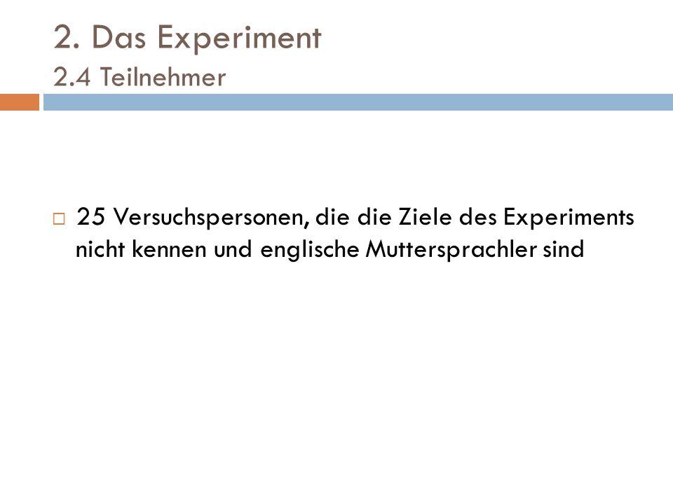 2. Das Experiment 2.4 Teilnehmer