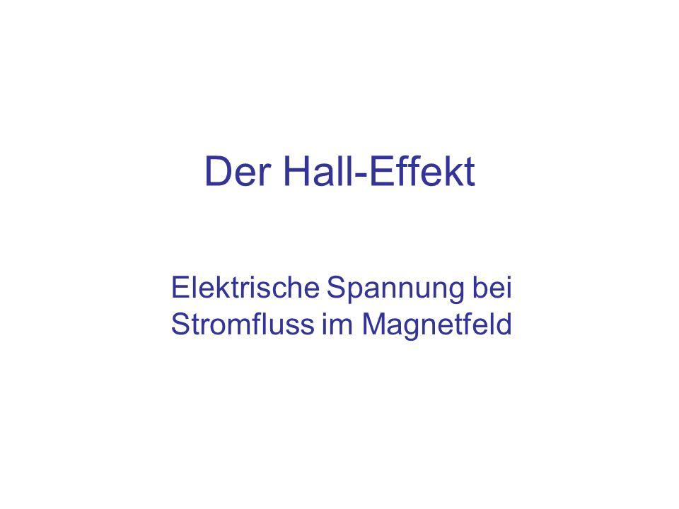 Elektrische Spannung bei Stromfluss im Magnetfeld