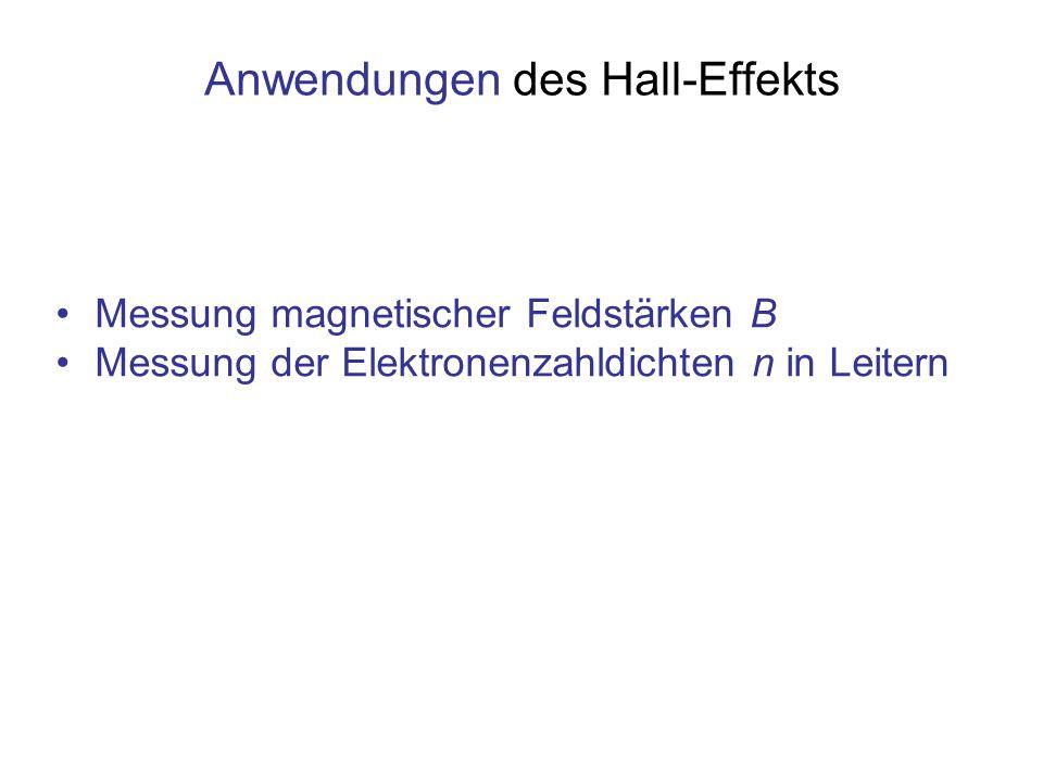 Anwendungen des Hall-Effekts