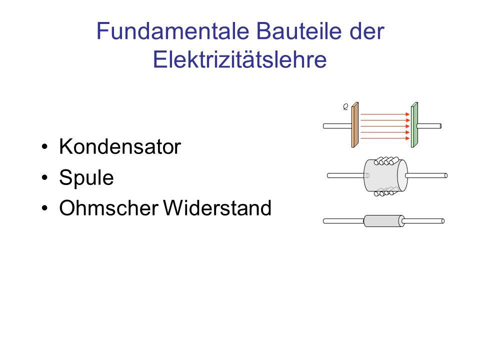 Fundamentale Bauteile der Elektrizitätslehre