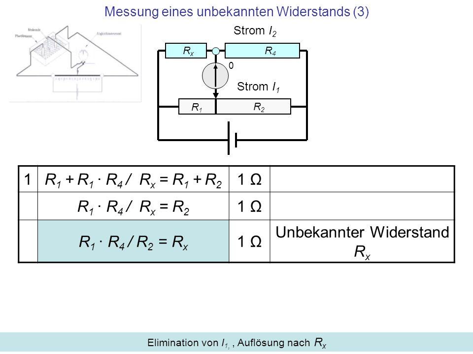 Messung eines unbekannten Widerstands (3)