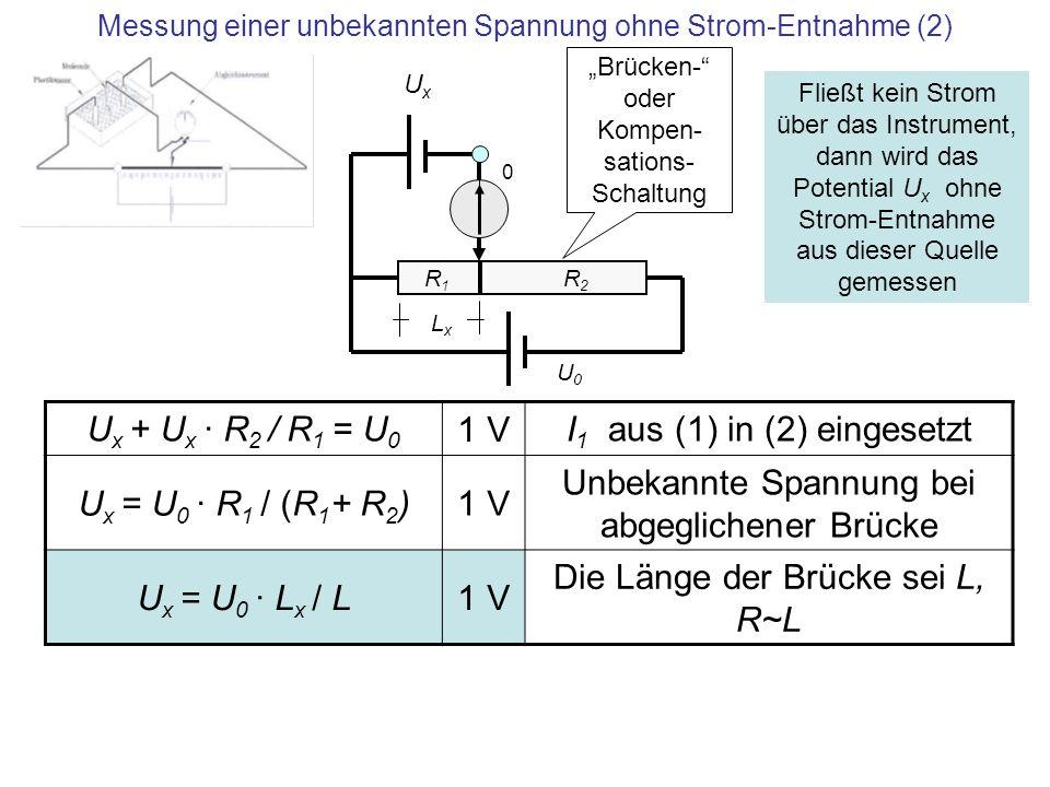 Messung einer unbekannten Spannung ohne Strom-Entnahme (2)