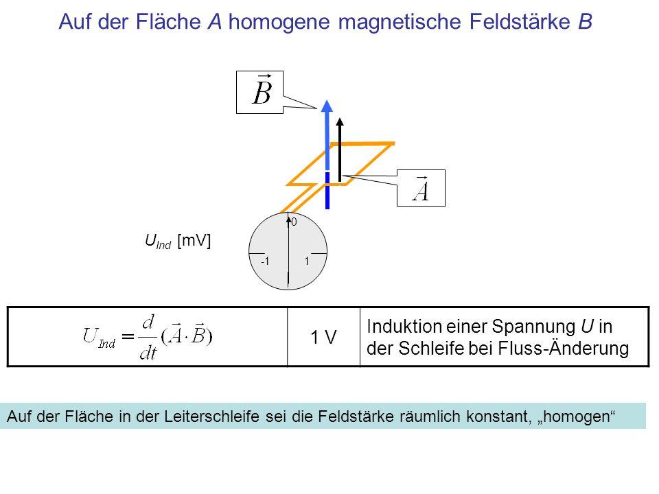 Auf der Fläche A homogene magnetische Feldstärke B